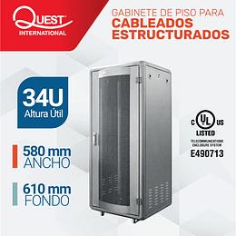 Gabinetes de Piso 34U | Ancho: 580 mm • Fondo: 610 mm