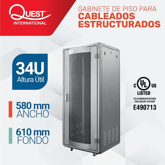Gabinetes de Piso 34U   Ancho: 580 mm • Fondo: 610 mm