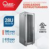 Gabinetes de Piso 28U | Ancho: 580 mm • Fondo: 610 mm