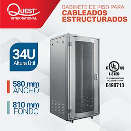 Gabinetes de Piso 34U | Ancho: 580 mm • Fondo: 810 mm