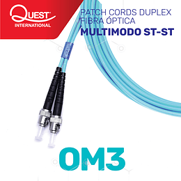 Patch Cords Duplex  Multimodo OM3 ST-ST