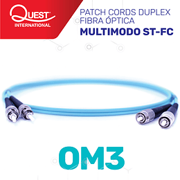 Patch Cords Duplex  Multimodo OM3 ST-FC