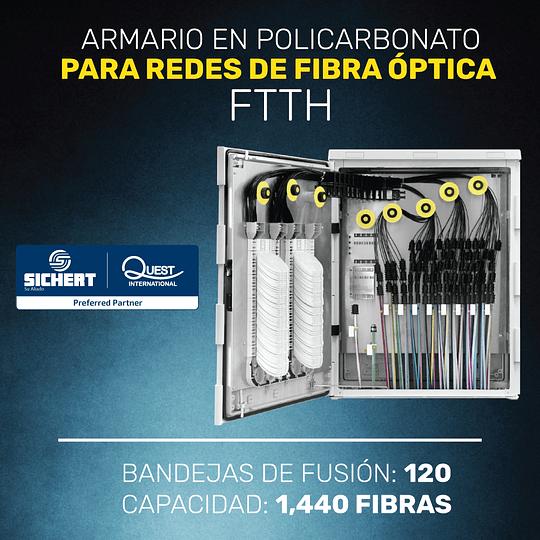 ARMARIO EN POLICARBONATO CON 120 BANDEJAS PARA FIBRA ÓPTICA