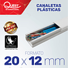 Canaleta Plástica 20 x 12 mm con adhesivo.