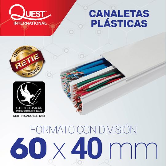 Canaleta Plastica 60 x 40 mm