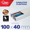 Canaleta Plástica 100 x 40 mm