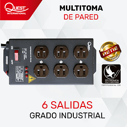 Multitoma de Pared con 6 salidas
