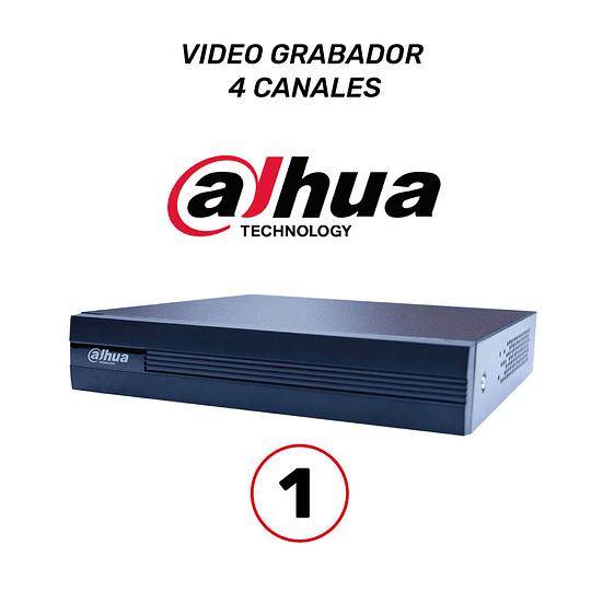 COMBO 4 CÁMARAS DE SEGURIDAD 1,080P + DVR 4 CANALES  DAHUA + DISCO DURO 1 TB  WESTERN DIGITAL + BALUMS Y TRANSFORMADORES