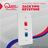 Face Plate de 2 Puertos Quest International