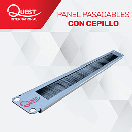 Panel Pasa Cables Con Cepillo de 1U