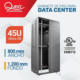 Gabinetes de Piso 45U | Ancho: 800 mm • Fondo: 1,200 mm