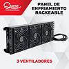 Panel de Enfriamiento Rackeable de 3 Ventiladores