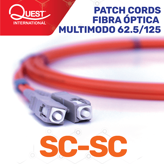 Patch Cords Duplex  Multimodo 62 / 125 SC-SC