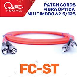 Patch Cords Duplex  Multimodo 62 / 125 FC-ST