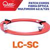 Patch Cords Simplex Multimodo 62 / 125 LC-SC