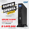 UPS ONLINE MONOFASICA DE 1.5 KVA PARA TAREAS CRÍTICAS Y APLICACIONES CORPORATIVAS