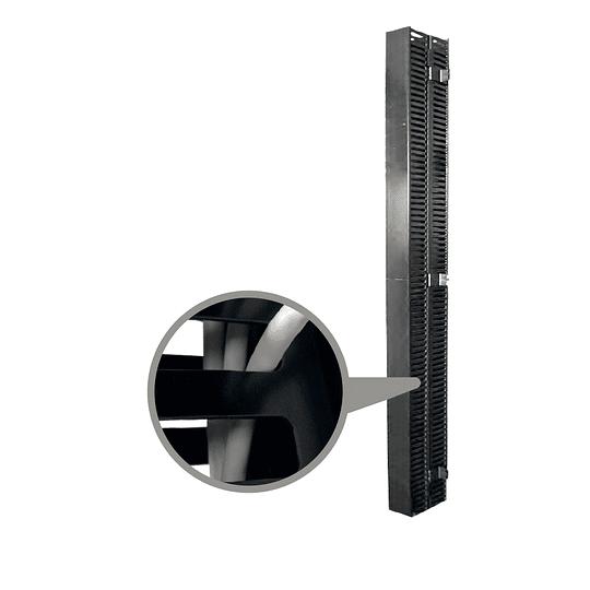Organizador Vertical Tipo Ducto de 80 x 85 mm para Gabinetes