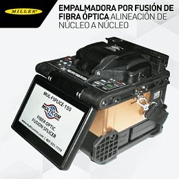 Empalmadora por fusión de fibra óptica alineación de núcleo a núcleo con motor de alineación