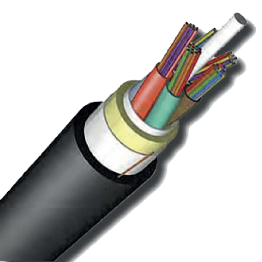 Fibra óptica ADSS monomodo de 12 hilos Span 100 |Carrete de 5,000 mt