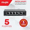 Switch no Administrable de 5 puertos Full Gigabit