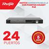 Switch de 24 Puertos Gigabit  PoE • Administrable Capa 2