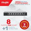 Switch de 8 puertos (PoE/PoE+) 10/100/1000 + 1 puerto 10/100/1000 Base T
