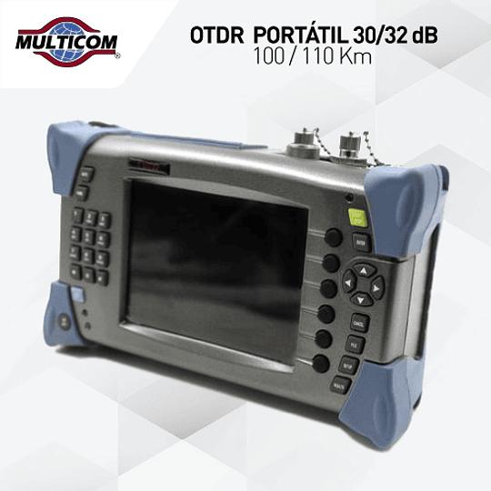 OTDR  PORTÁTIL 30/32 dB100 / 110 Km
