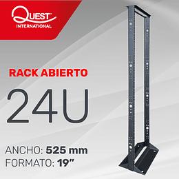 """Rack abierto de 2 Parales en formato de 19"""" de 24U"""