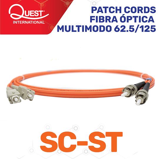 Patch Cords Duplex  Multimodo 62 / 125 SC-ST