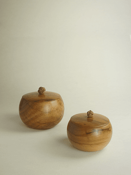 LEATHER BUTTON CANDY JAR