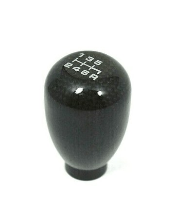 VMS RACING SHIFT KNOB CARBON TYPE R STYLE 6-SPEED (UNIVERSAL)