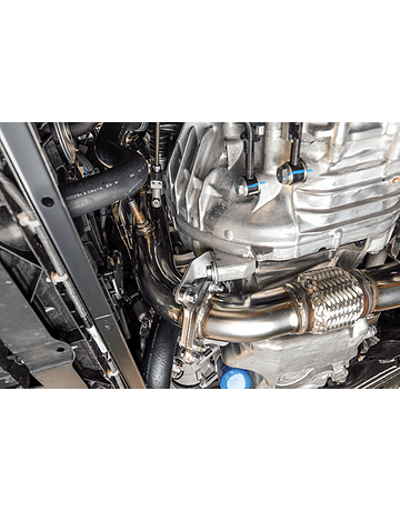 HKS RVS DOWN PIPE/KATALYSATOR VERVANGER 76MM (CIVIC 2017+ TYPE R TURBO FK8)