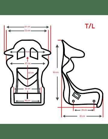 RRS GRIP 2 FIA Racing Seat 2020 - Size L Universal