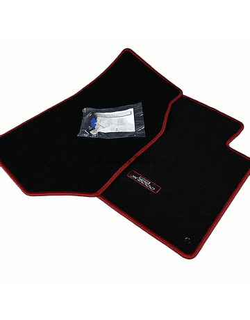 OEM HONDA FLOOR MAT SET BLACK/RED (S2000 99-09)