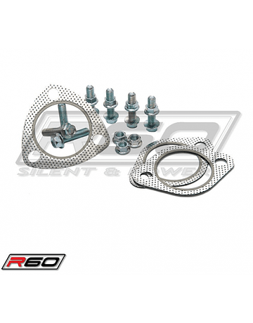 SRS EXHAUST SYSTEM R60 STAINLESS STEEL INCL. TUV (CIVIC 92-95/96-00 2/4DRS)