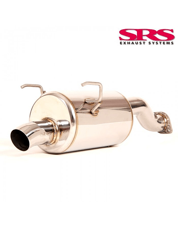 SRS EXHAUST SYSTEM R70 STAINLESS STEEL TODA STYLE 70MM INCL.TUV (CIVIC 01-06 TYPE R)