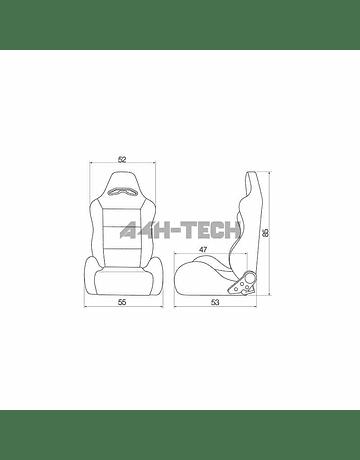 SIMONI RACING BUCKET SEAT EK9/DC2 TYPE R LOOK RED (UNIVERSAL)