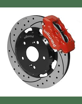 WILWOOD FORGED DYNALITE 310MM 4-POT BIG BRAKE KIT RED (CIVIC 01-12 TYPE R/INTEGRA 01-06 TYPE S)
