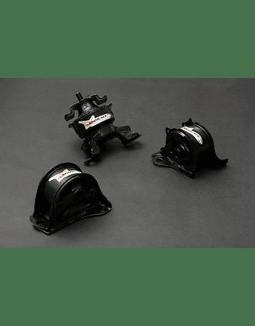 HARDRACE HARDENED ENGINE MOUNTS 3PC HONDA CIVIC EK B-SERIES D-SERIES 96-00
