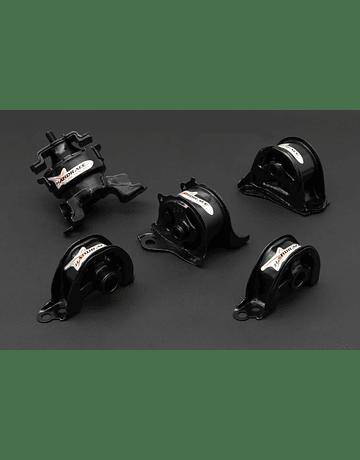 HARDRACE HARDENED ENGINE MOUNTS 5PC SET HONDA CIVIC EK B-SERIES D-SERIES 96-00