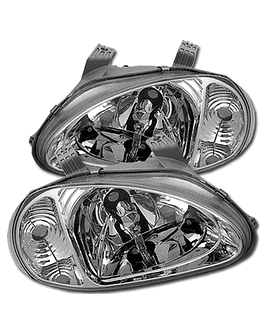 Sonar One Piece head lights Chrome (Del Sol 92-98)