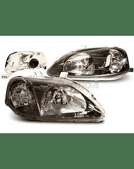 Sonar head lights JDM Black Housing (Civic 99-00 2/3/4 drs)