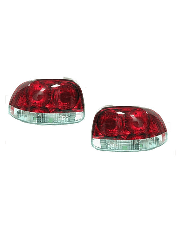 Sonar tail lights red/white clear (Del sol 92-98)