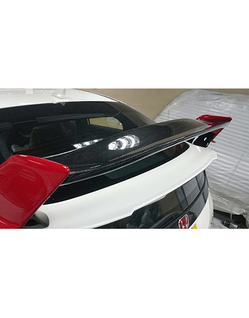 Aeroworks spoiler Type R style carbon gurney flap (Civic 2015+ Type R Turbo FK2)