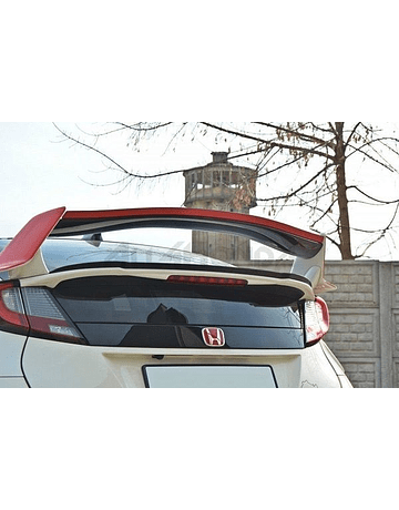 Maxton Design spoiler extension V2 gloss black (Civic 2015+ Type R Turbo FK2)