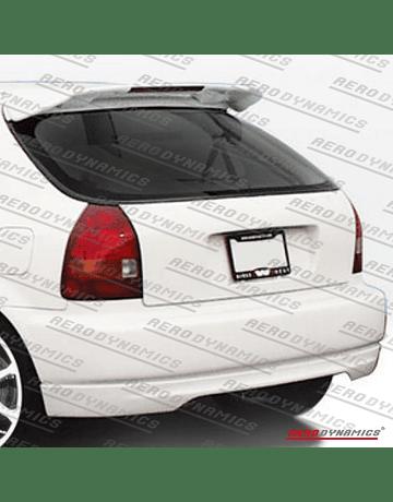 Aerodynamics FRP Spoiler Type R style with 3rd brake light (Civic 96-00 3drs)