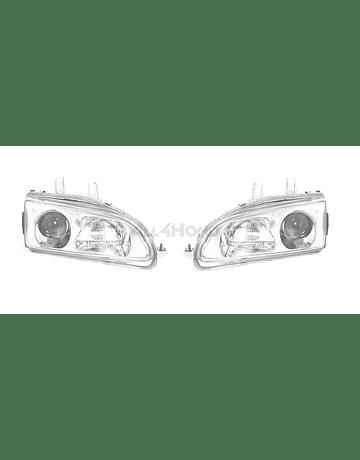 Denji Gen 1 head lights chrome + clear lens (Civic 92-95)