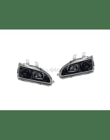 Denji Gen 1 headlights black + Blue lenses (Civic 92-95)