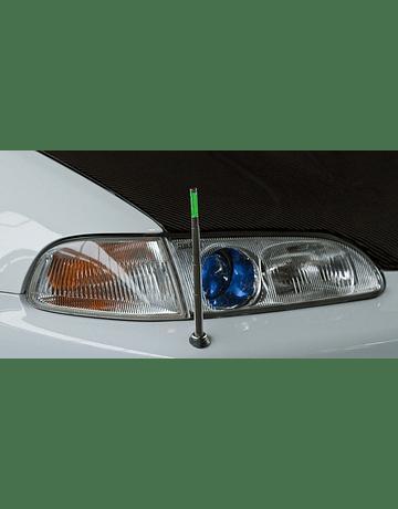 Denji Gen 1 headlights chrome + blue lenses (Civic 92-95)