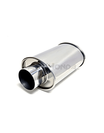Vibrant ultra quiet stainless steel muffler oval 2.5'' (universal)